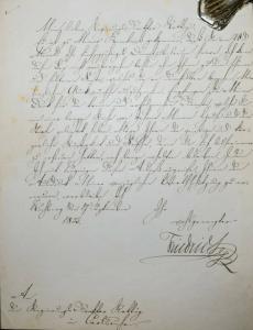 FRIEDRICH I., GROSSHERZOG VON BADEN, EIGENHÄNDIGER BRIEF - KARLSRUHE 1859