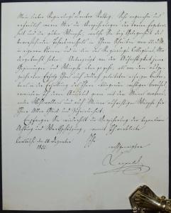 KARL LEOPOLD, GROSSHERZOG VON BADEN, EIGENHÄNDIGER BRIEF - KARLSRUHE 1832
