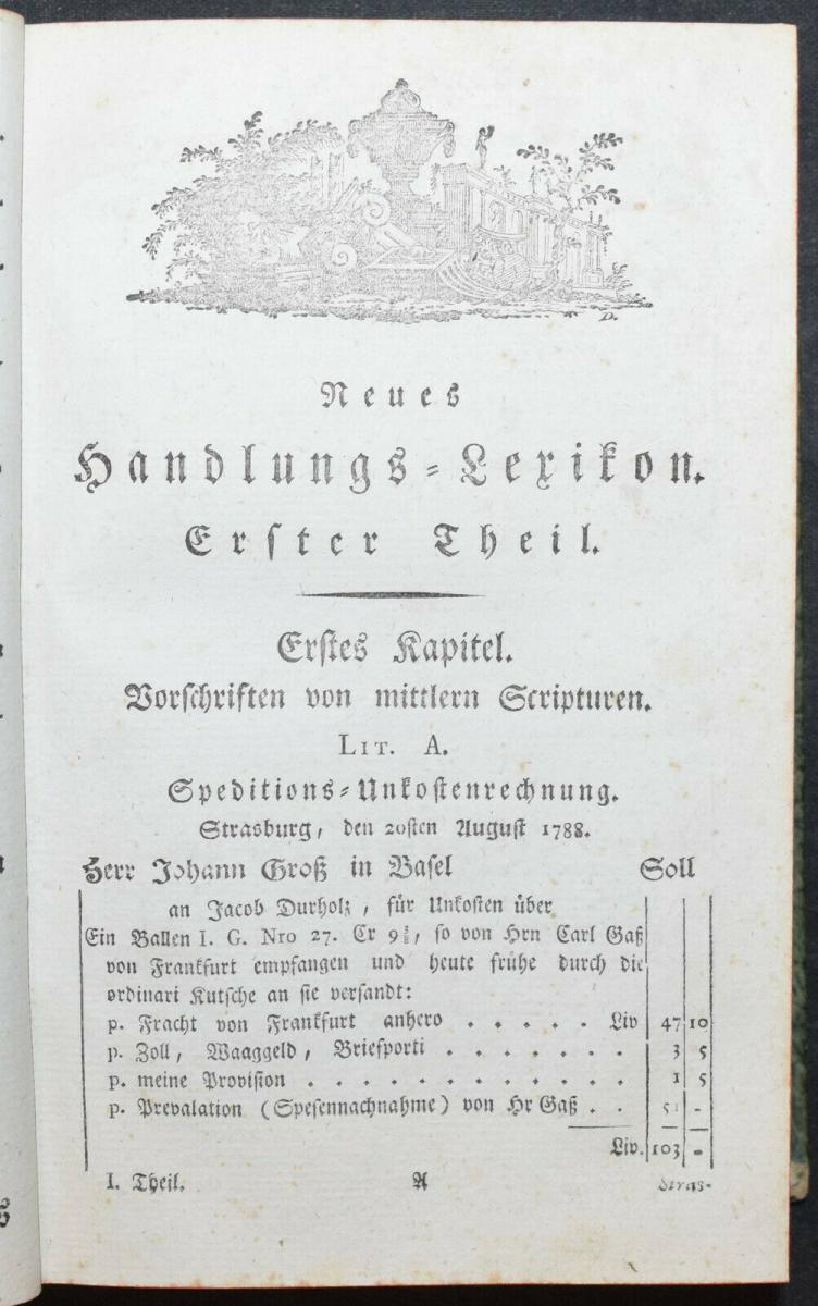 EULER - NEUES HANDLUNGS-LEXIKON - SELTENE ERSTE AUSGABE - 1790 - HANDEL 1