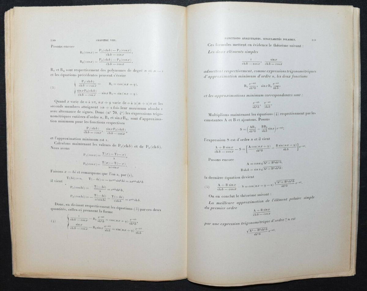 LA VALLÉE POUSSIN - LEÇONS SUR L'APPROXIMATION DES FONCTIONS…1919 - MATHEMATIK 3