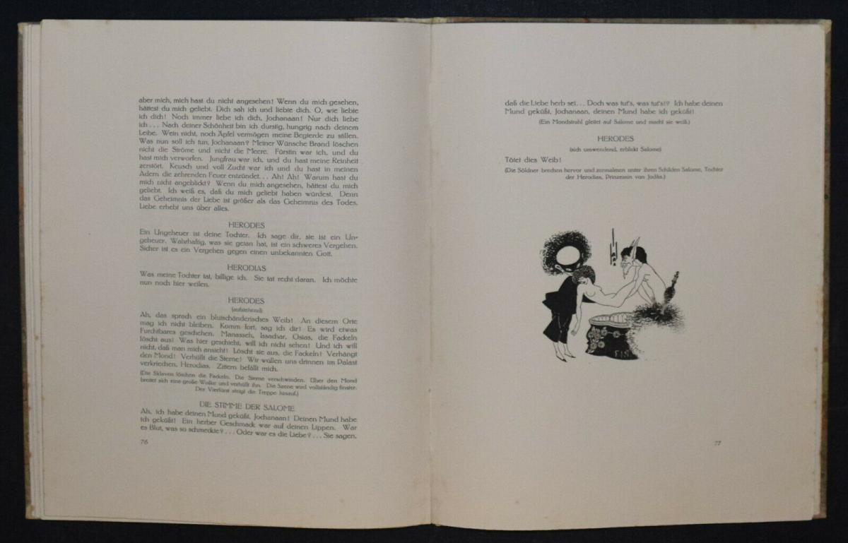 Oscar Wilde - Salome mit 16 Zeichnungen von Aubrey Beardsley 9