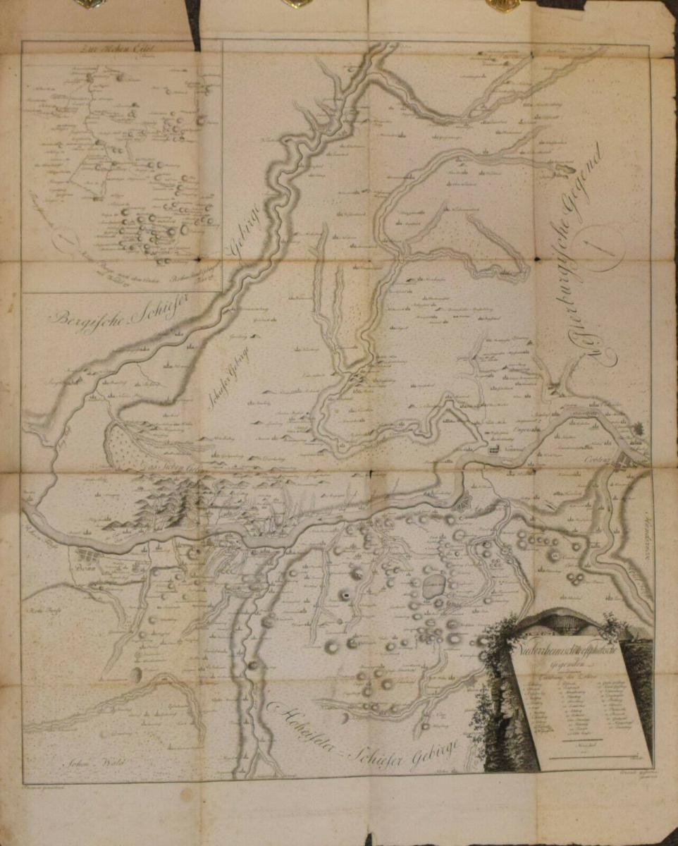 NORDRHEIN WESTFALEN – SELTENE REGIONAL-KARTE UM 1805 - NRW 0