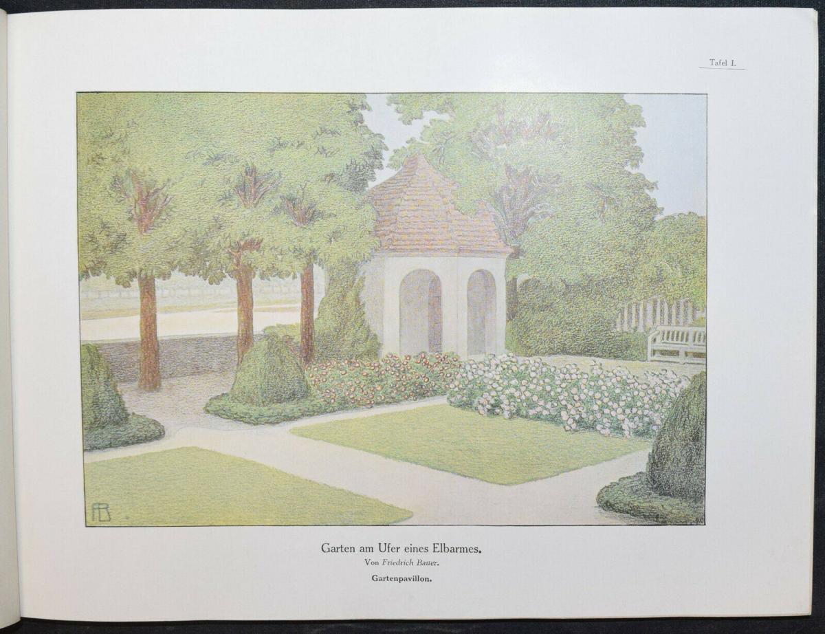 Hausgärten - 1908 - Gartenarchitektur - Gärten - Gartenbau 0