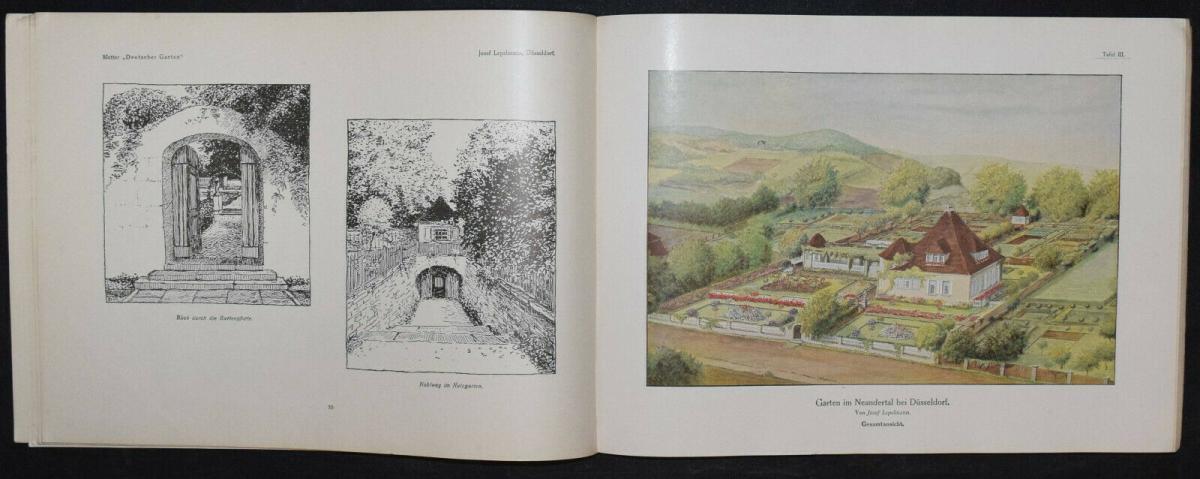 Hausgärten - 1908 - Gartenarchitektur - Gärten - Gartenbau 1