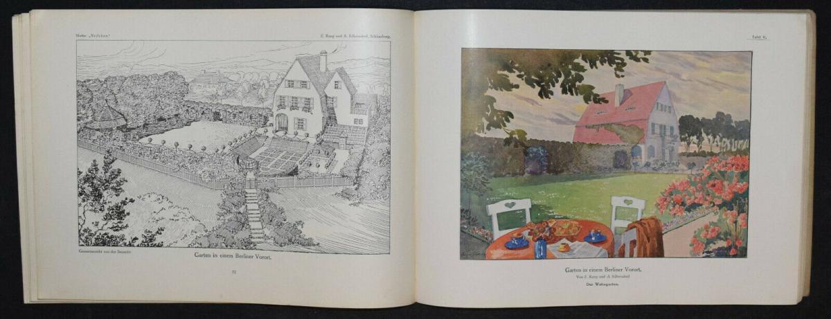 Hausgärten - 1908 - Gartenarchitektur - Gärten - Gartenbau 3