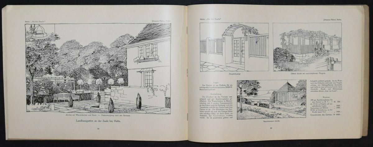 Hausgärten - 1908 - Gartenarchitektur - Gärten - Gartenbau 7