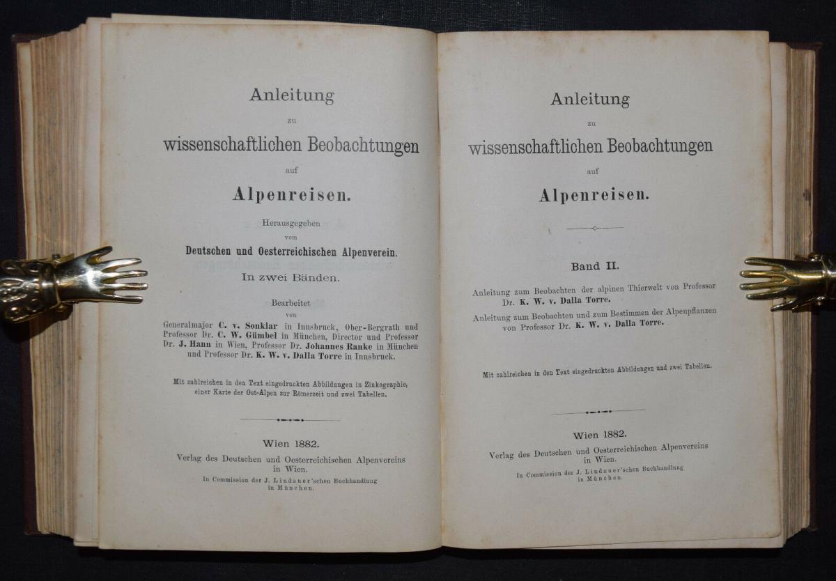 ALPEN-REISEN 1882 - Anleitung zu wissenschaftlichen Beobachtungen.. - Alpinistik 7