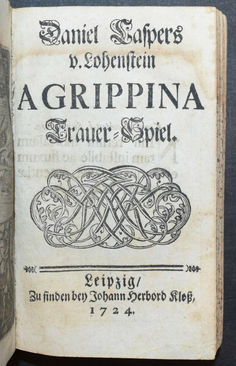 CLEOPATRA - DANIEL LOHENSTEIN - SAMMELBAND 1679 - 1724 - THEATERSTÜCKE - DRAMEN 11