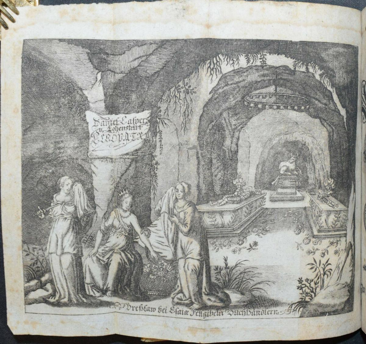 CLEOPATRA - DANIEL LOHENSTEIN - SAMMELBAND 1679 - 1724 - THEATERSTÜCKE - DRAMEN 4