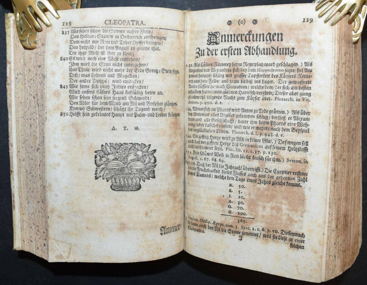 CLEOPATRA - DANIEL LOHENSTEIN - SAMMELBAND 1679 - 1724 - THEATERSTÜCKE - DRAMEN 6