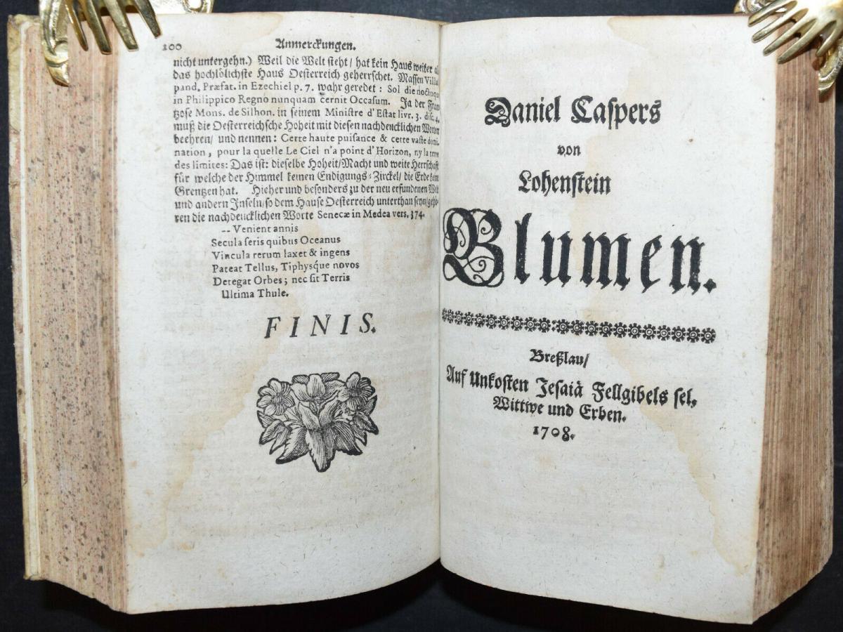 CLEOPATRA - DANIEL LOHENSTEIN - SAMMELBAND 1679 - 1724 - THEATERSTÜCKE - DRAMEN 7
