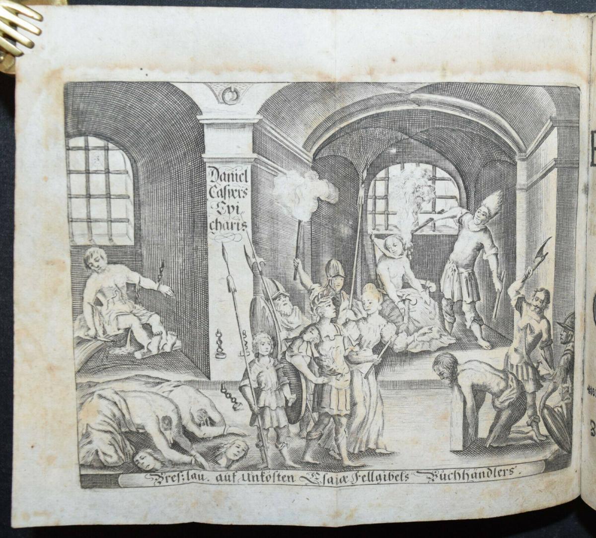CLEOPATRA - DANIEL LOHENSTEIN - SAMMELBAND 1679 - 1724 - THEATERSTÜCKE - DRAMEN 8