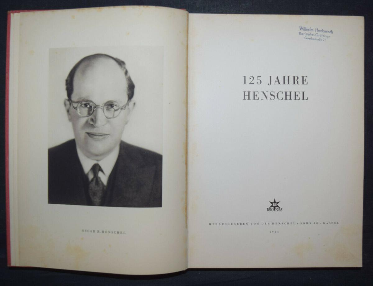 EISENBAHN - 125 JAHRE HENSCHEL - 1935 0