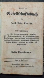 KARTEN-TRICKS RÄTSEL ZAUBEREI UM 1850- GESELLSCHAFTSBUCH FÜR FRÖHLICHE KREISE