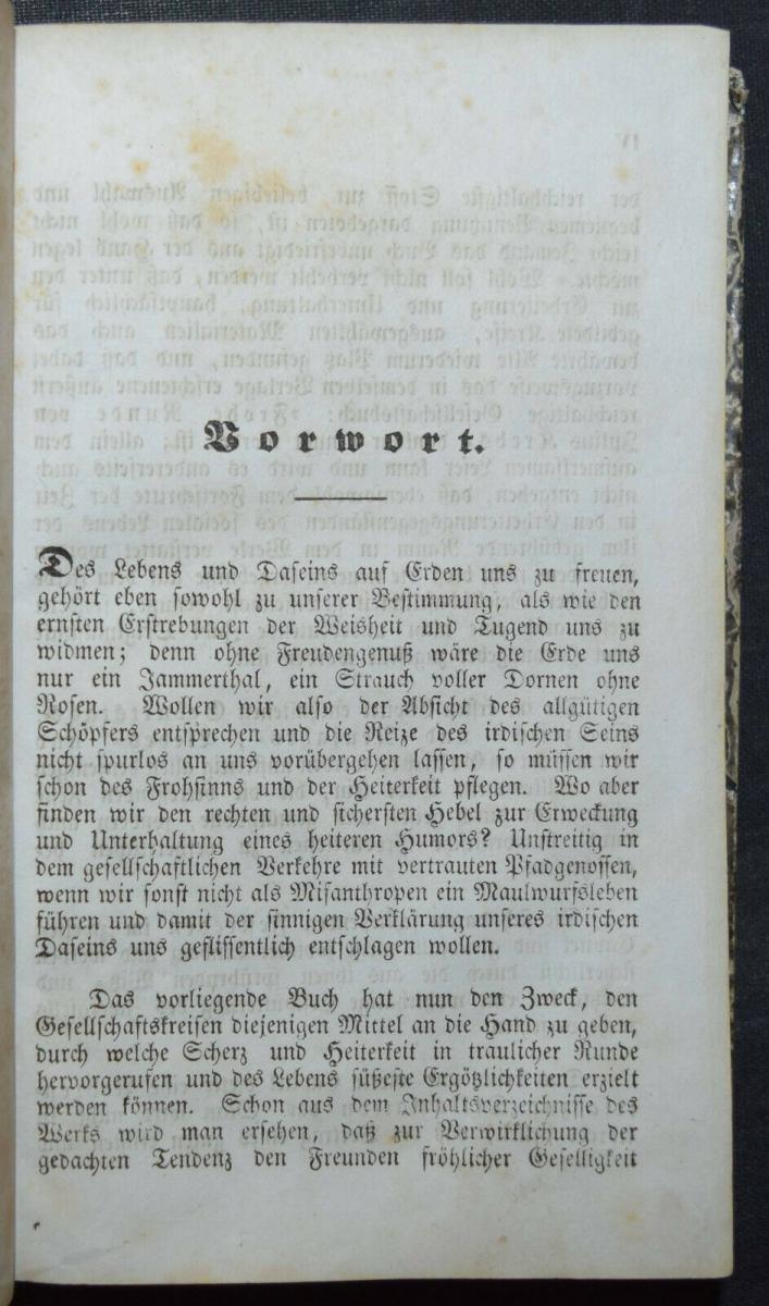 KARTEN-TRICKS RÄTSEL ZAUBEREI UM 1850- GESELLSCHAFTSBUCH FÜR FRÖHLICHE KREISE 1