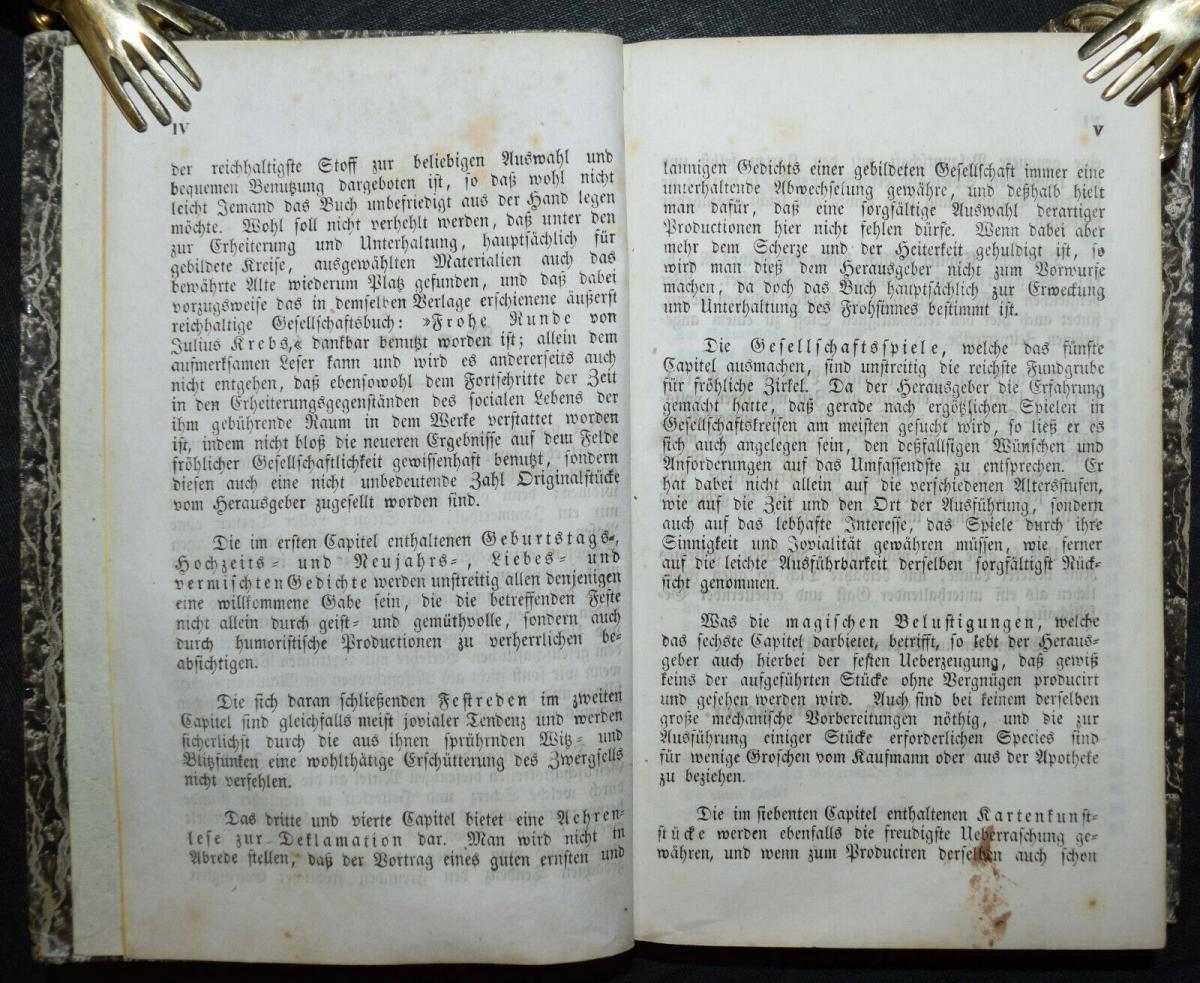 KARTEN-TRICKS RÄTSEL ZAUBEREI UM 1850- GESELLSCHAFTSBUCH FÜR FRÖHLICHE KREISE 2
