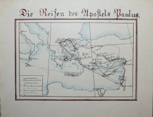 LASSEN - SCHULHEFT MIT 5 HANDGEZEICHNETEN FARBIGEN KARTEN - THÜRINGEN UM 1830