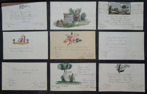 HÜBSCHES BIEDERMEIER STAMMBUCH - ALBUM AMICORUM - ERINNERUNG AN FREUNDE - 1817