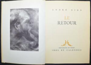 ANDRE GIDE - LE RETOUR - EINES VON 2500 EXEMPLAREN NUMMERIERT