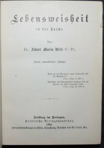 WEISS, LEBENSWEISHEIT IN DER TASCHE - 1904