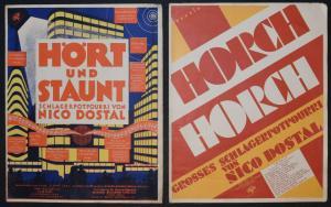 Noco Dostal - Hört und staunt - 1931 - Art Deco - Schlager - Moritz Herzig