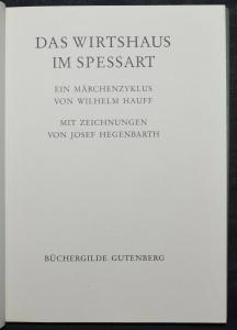 HAUFF - DAS WIRTSHAUS IM SPESSART - 1990  MIT ZEICHNUNGEN VON JOSEF HEGENBARTH