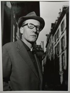 BEAT GENERATION - WILLIAM S. BURROUGHS - ORIGINAL-PORTRÄTPHOTO - PARIS 1962