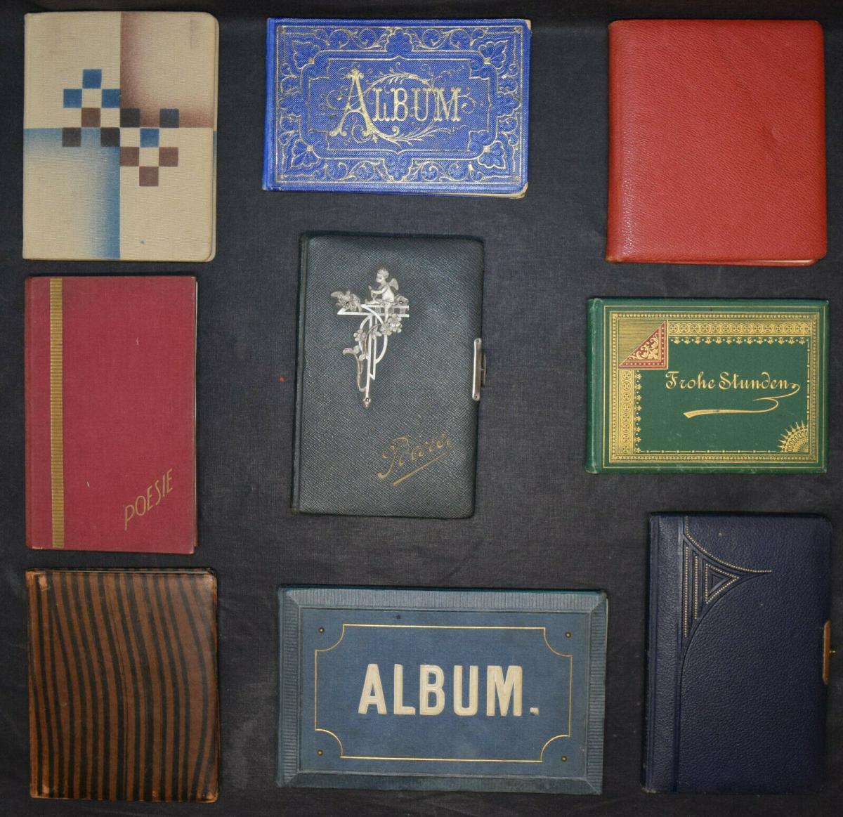 ALBUM AMICORUM - FREUNDSCHAFTS-ALBUM - POESIE-ALBUM - 9 ALBEN - 1879-1965 1