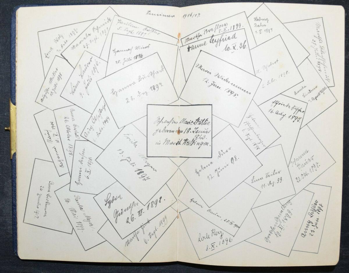 ALBUM AMICORUM - FREUNDSCHAFTS-ALBUM - POESIE-ALBUM - 9 ALBEN - 1879-1965 2