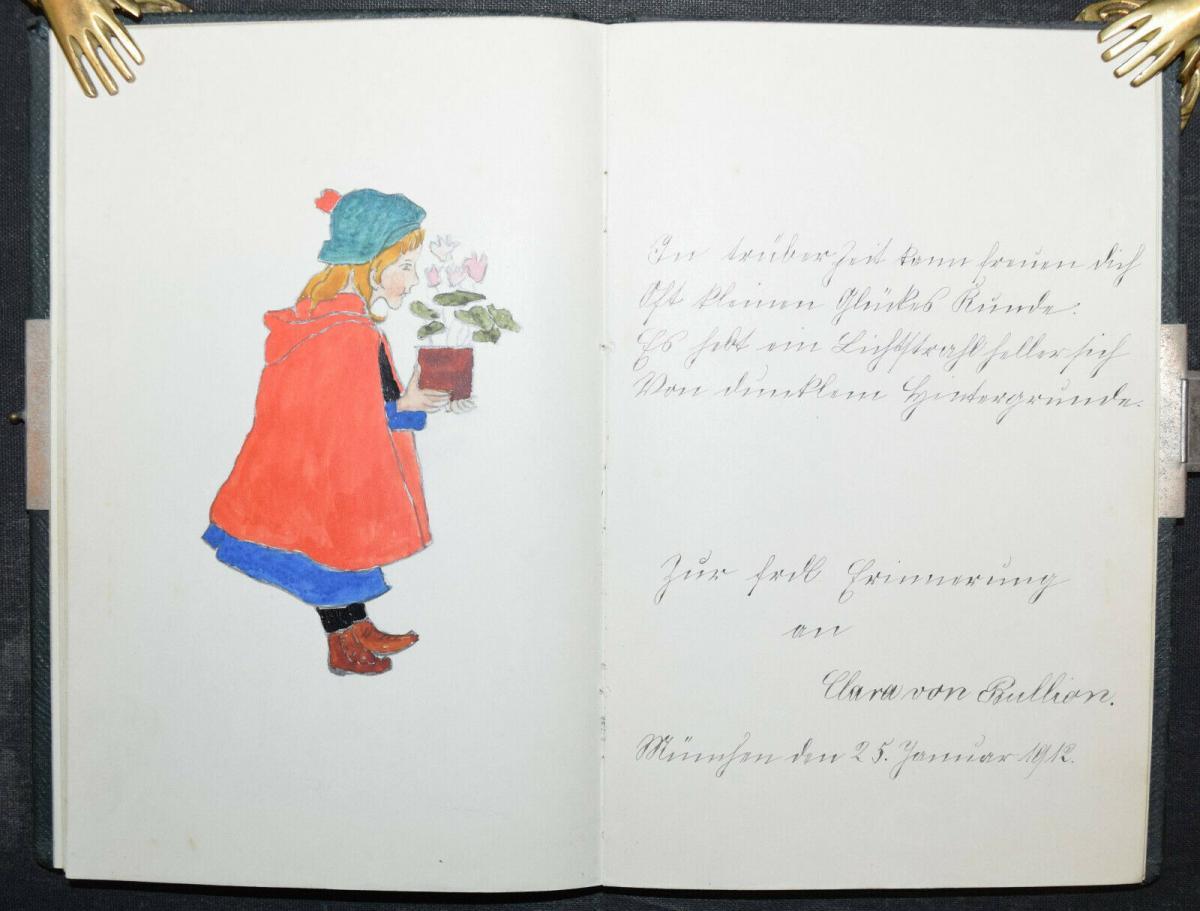 ALBUM AMICORUM - FREUNDSCHAFTS-ALBUM - POESIE-ALBUM - 9 ALBEN - 1879-1965 3
