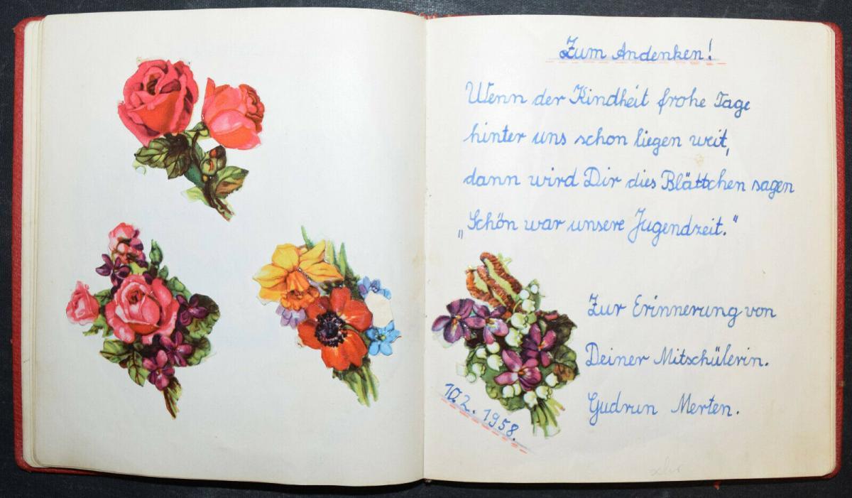ALBUM AMICORUM - FREUNDSCHAFTS-ALBUM - POESIE-ALBUM - 9 ALBEN - 1879-1965 8