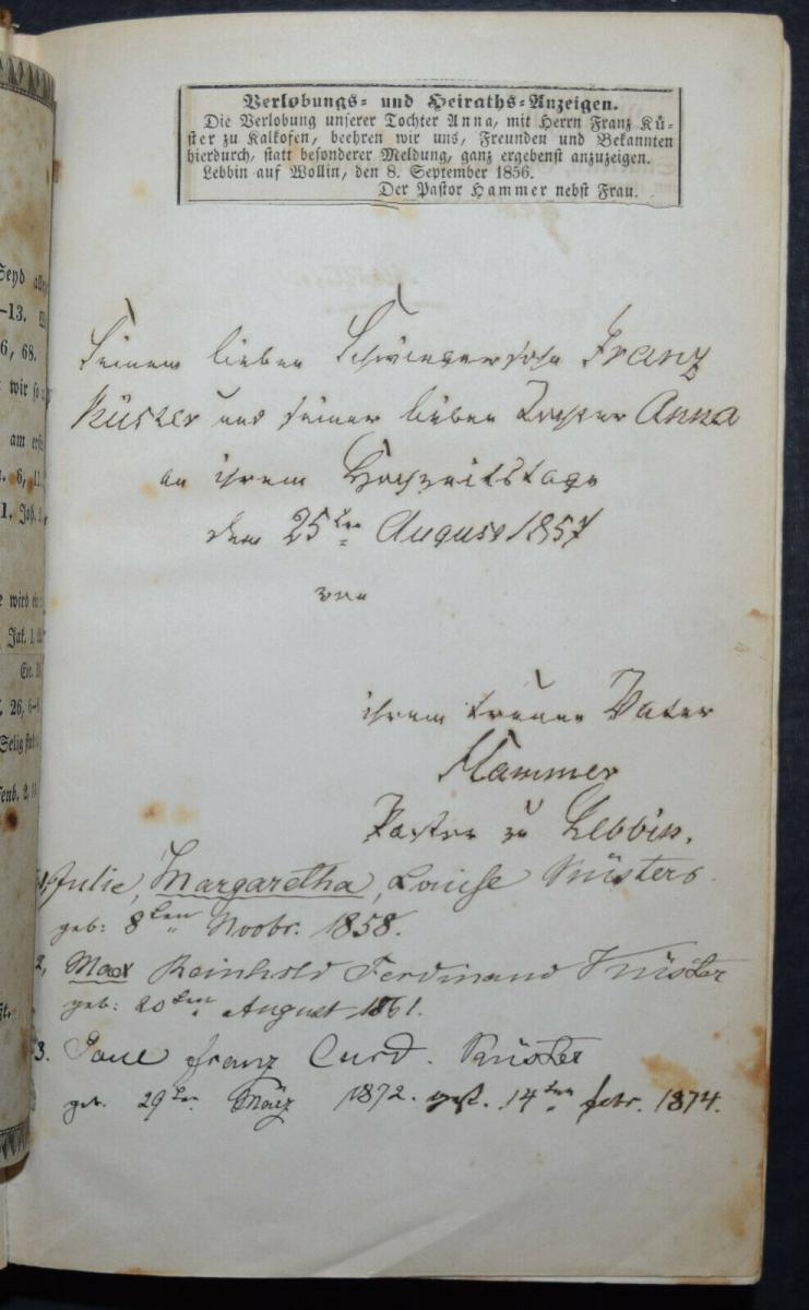BIBLIA GERMANICA – DIE BIBEL ODER DIE GANZE HEILIGE SCHRIFT - UM 1845 5
