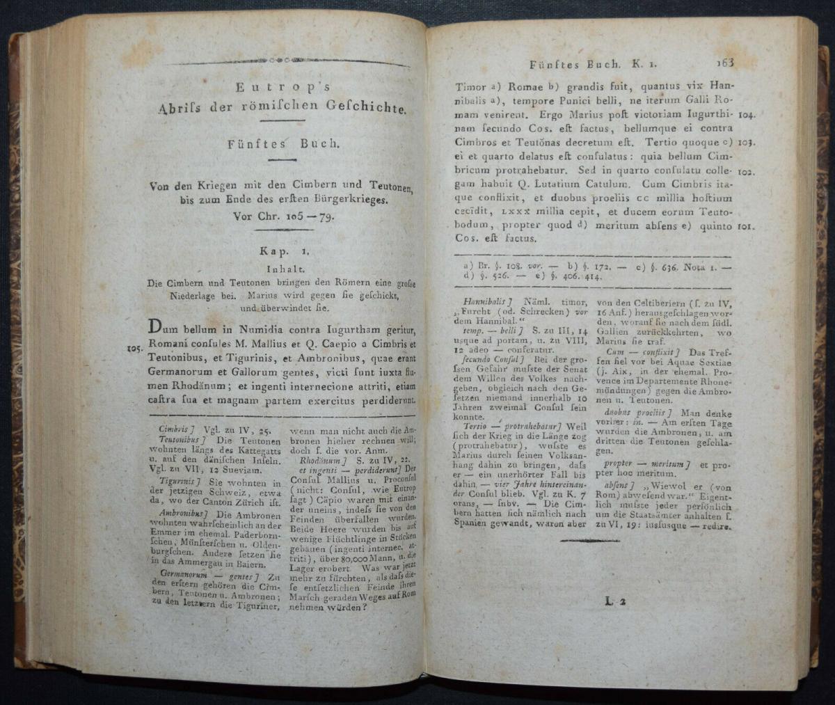 EUTROPIUS - EUTROPII BREVIARIUM HISTORIAE ROMANAE - ERSTAUSGABE 1813 - ANTIKE 5