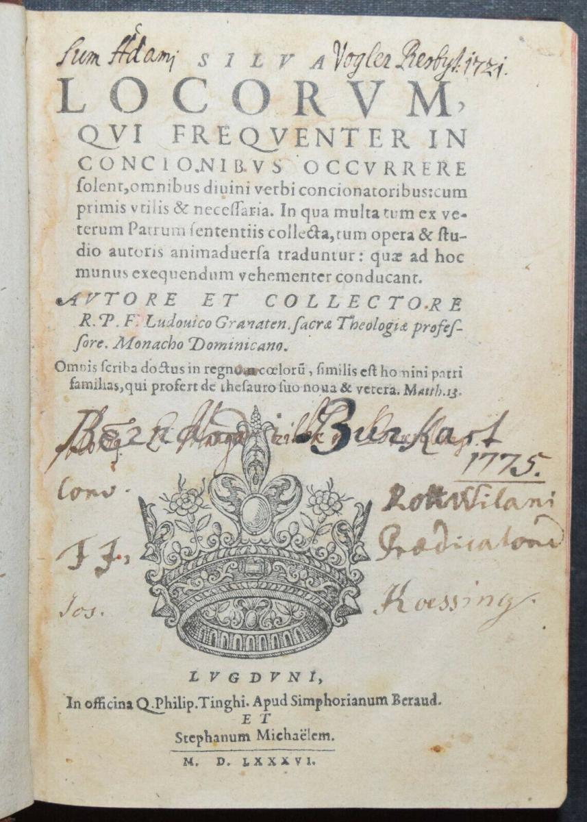 Luis di Granada - Silva locorum - 1586 0