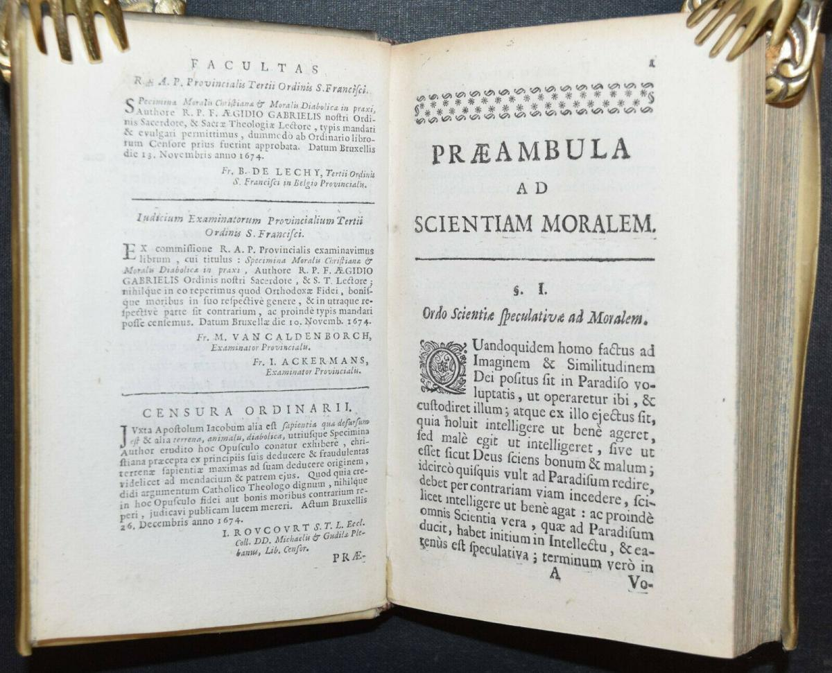 AEGIDIUS GABRIELIS - SPECIMINA MORALIS CHRISTIANÆ - ERSTAUSGABE 1675 4