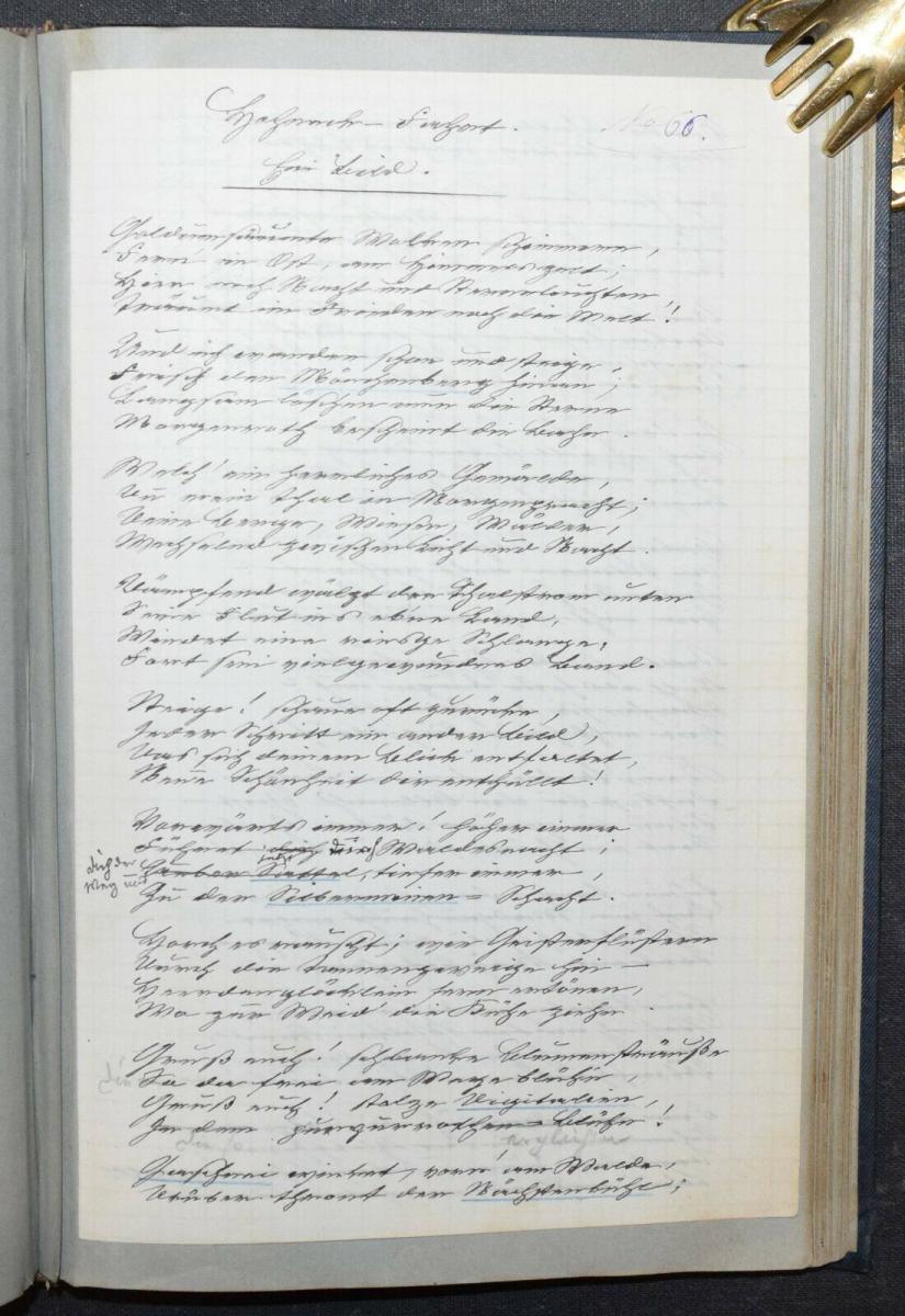 JOHANN BRESCH - VOGESENKLÄNGE - ORIGINAL-MANUSKRIPT 1887 -  ELSASS - HANDSCHRIFT 10