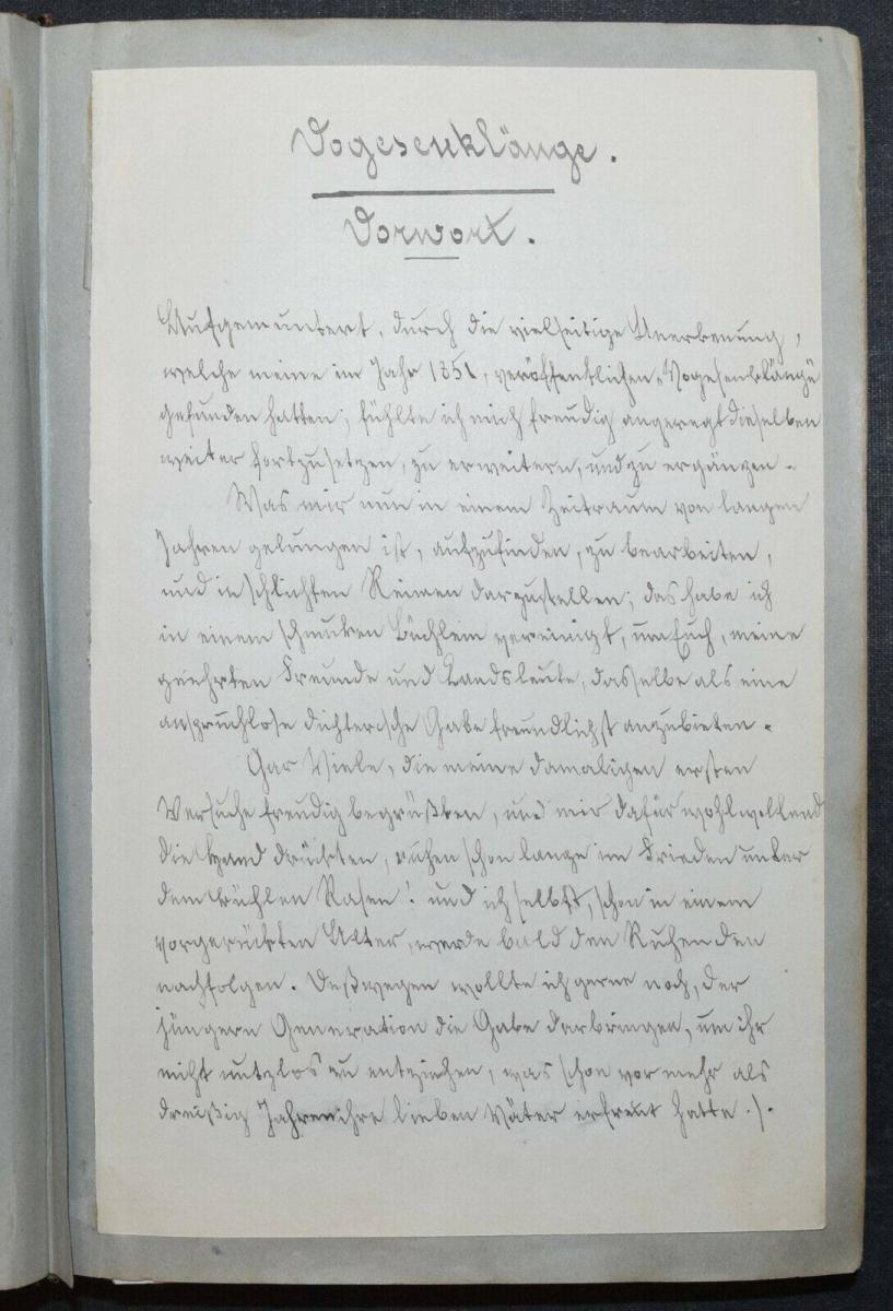 JOHANN BRESCH - VOGESENKLÄNGE - ORIGINAL-MANUSKRIPT 1887 -  ELSASS - HANDSCHRIFT 2
