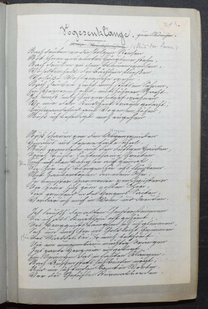 JOHANN BRESCH - VOGESENKLÄNGE - ORIGINAL-MANUSKRIPT 1887 -  ELSASS - HANDSCHRIFT 7