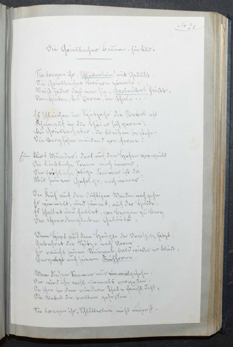 JOHANN BRESCH - VOGESENKLÄNGE - ORIGINAL-MANUSKRIPT 1887 -  ELSASS - HANDSCHRIFT 8