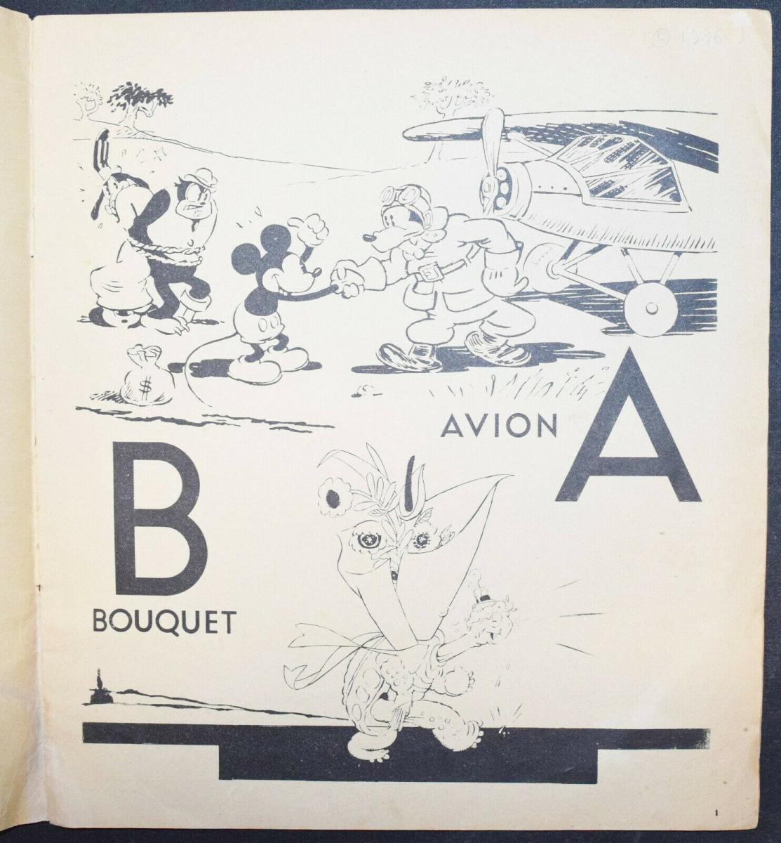 WALT DISNEY - L' ALPHABET DE MICKEY - ERSTAUSGABE 1936 - MICKY MAUS - ABC-BUCH 1