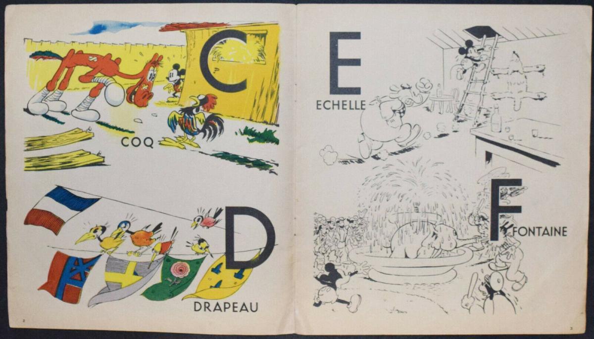 WALT DISNEY - L' ALPHABET DE MICKEY - ERSTAUSGABE 1936 - MICKY MAUS - ABC-BUCH 2