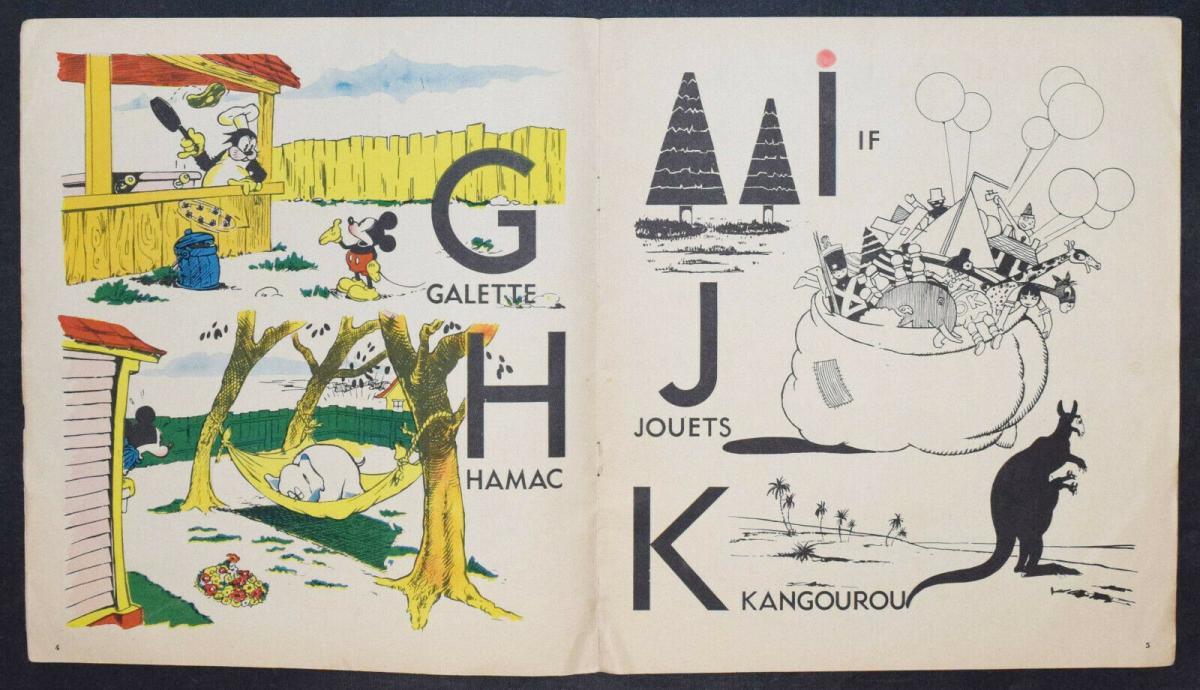 WALT DISNEY - L' ALPHABET DE MICKEY - ERSTAUSGABE 1936 - MICKY MAUS - ABC-BUCH 3