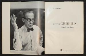 Walter Gropius - Erstausgabe 1954 - Sigfried Giedion - Bauhaus