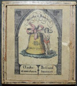 BIEDERMAEIER-SPIEL -  GLOCKE UND HAMMER UM 1840