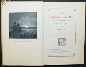 GEORG KORF - DIE ANDERE SEITE DER WELT - SELTENE ERSTAUSGABE 1914 - OKKULTISMUS