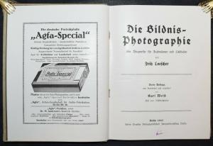 LOESCHER, DIE BILDNIS-PHOTOGRAPHIE 1917 DAGUERREOTYPIE