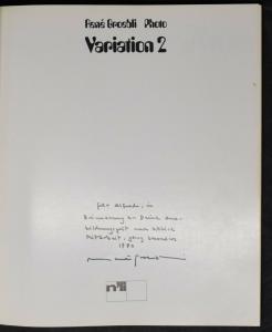 GROEBLI. VARIATION 2. TEUFEN 1971 SIGNIERT MIT EIGENH. WIDMUNG VON R. GROEBLI