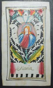 Andachtsbild – S. Maria - Original-Aquarell um 1780