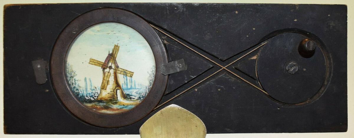 LATERNA MAGICA – GLASDIA WINDMÜHLE UM 1860 DIA GLASDIAS LATERNA MAGICA LEBENSRAD 0