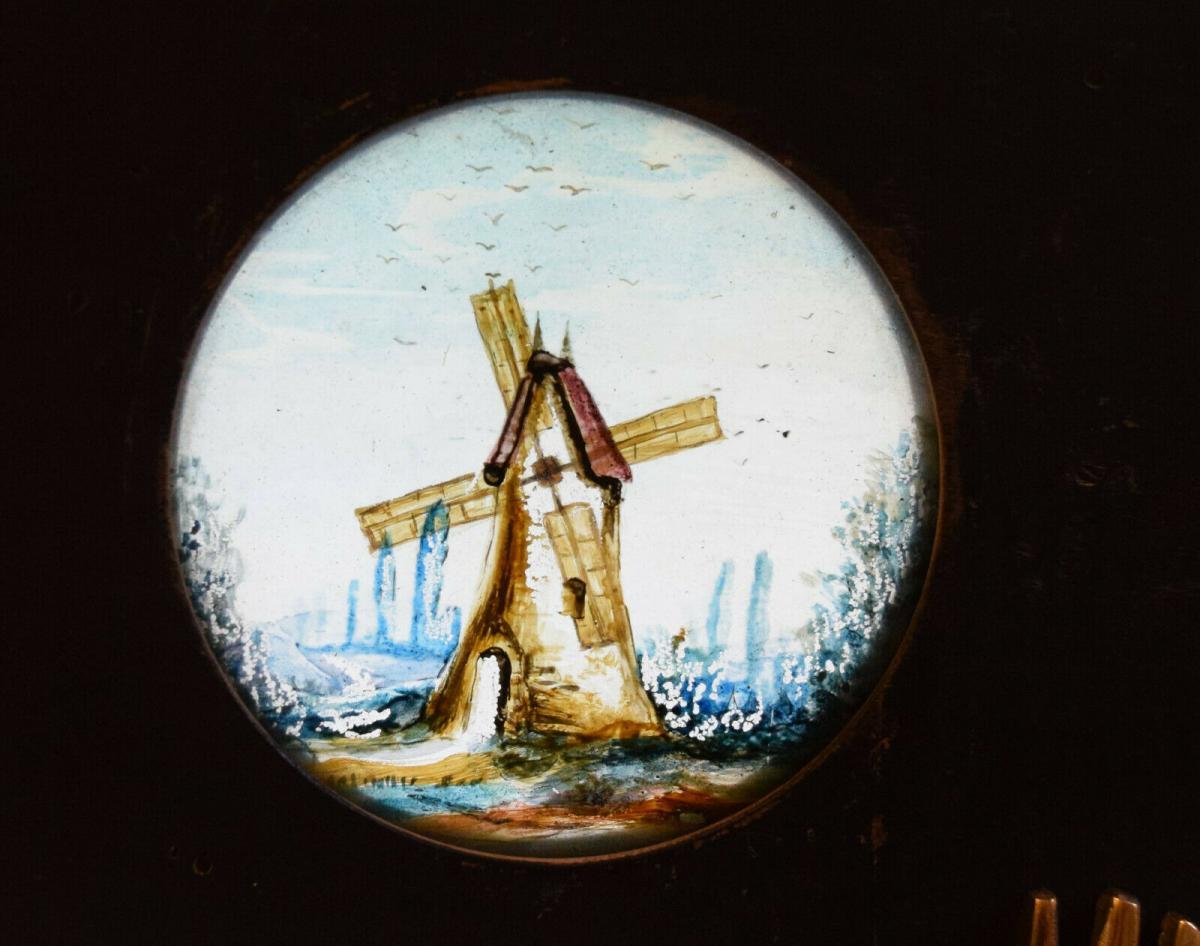 LATERNA MAGICA – GLASDIA WINDMÜHLE UM 1860 DIA GLASDIAS LATERNA MAGICA LEBENSRAD 1